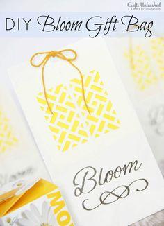 Gift Bag DIY: Spring 'Bloom' Bags - Crafts Unleashed