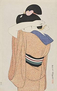 "Japanese Art Print ""Long Undergarment (Nagajuban)"" by Ito Shinsui. Shin Hanga and Art Reproductions http://www.amazon.com/dp/B00XUXTL9U/ref=cm_sw_r_pi_dp_8Pyswb1M4PCS6"