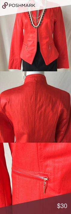 Red Blazer Nwot. I purchased while in Europe, but never got around to wearing it. Size 38. Jackets & Coats