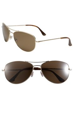 3d5bf2ea483 kate spade new york  ally  60mm polarized metal aviator sunglasses Gold  Aviator Sunglasses