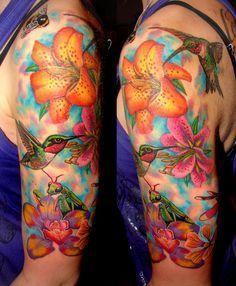 hawaiian icean themed sleeve tattoos - Google Search
