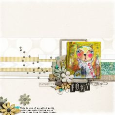 Foxy- Digital Scrapbooking layout with a digital scrapbooking kit by Etc by Danyale, Shades of White Paper pack, at The Lilypad.
