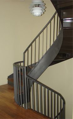 Awesome curving staircase