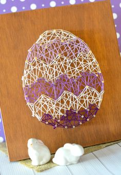 This beautiful (and simple!) DIY Easter Egg String Art Home Decor can easily be showcased for Easter or spring. Stunning gift.