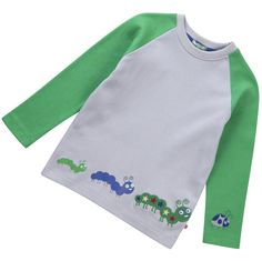 Caterpillar Raglan Tee by Piccalilly