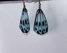 Check out Butterfly Wing Earrings, Handmade Jewelry, Clear wings, Stainless Steel, 14k Gold, Hypoallergenic, Fish Hook Earrings, Insects on dougwalpusartstudio