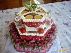 Slaný aspikový dort