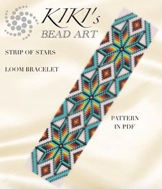 Bead loom pattern  Strip of stars  LOOM bracelet PDF pattern