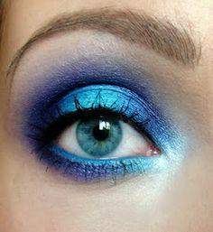 Electric Blue and Aqua #eye shadow #makeup