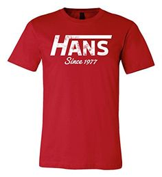 Hans Since 1977 T-shirt | Go Solo in This Tee (Small, Red) RoAcH http://www.amazon.com/dp/B018OCPSNO/ref=cm_sw_r_pi_dp_V9nxwb0CSCWDR