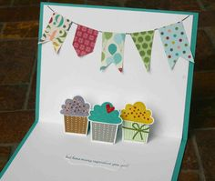 DIY Pop Up birthday card w/ cupcakes
