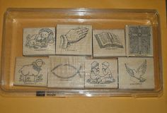 Stampin Up Inspirational Images 8 Stamps 1999 Religious Christian $7.95