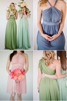 Bridesmaid options from Little Borrowed Dress http://mylittleborroweddress.com/  Photography By http://elizabethmessina.com