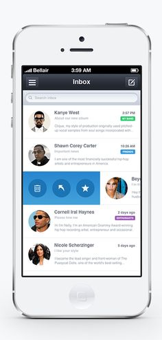 iOS Mail App UI Designs and Concepts for Inspiration