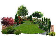 Check out new work on my Behance portfolio Small Family Garden - small front yard landscaping ideas Privacy Landscaping, Small Backyard Landscaping, Arborvitae Landscaping, Landscaping Ideas, Garden Shrubs, Shade Garden, Landscape Plans, Landscape Design, Spring Landscape
