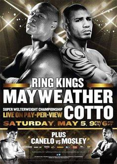 Boxing: Miguel Cotto vs Floyd Mayweather Poster