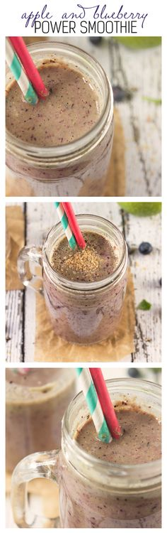 Apple and Blueberry Power Smoothie | Annie's Noms