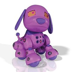 You'll love the unique bond that forms between you and your Zoomer Zuppies Interactive Puppy in the Lilac style when you scratch her tummy, pat her head and cuddle together.