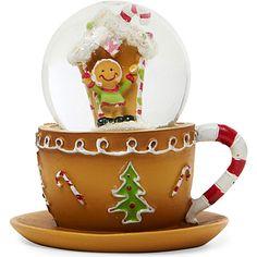 GISELA GRAHAM Gingerbread teacup snow dome