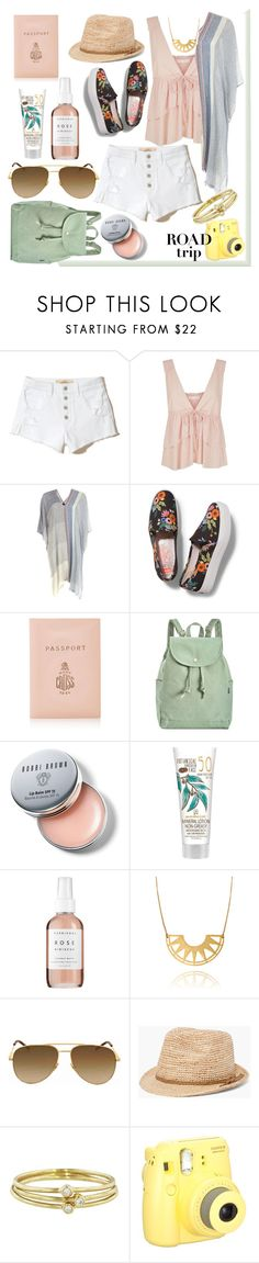 """Rev It Up: Road Trip Style - Simplicity Travel"" by mariyushka on Polyvore featuring Hollister Co., See by Chloé, Barbour, Rifle Paper Co, BAGGU, Bobbi Brown Cosmetics, Herbivore, Yves Saint Laurent, Chico's and Jennifer Meyer Jewelry"