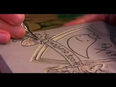 A fun video illustrating the process of carving and printing from a lino block.