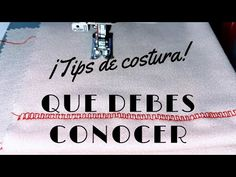 #50 PUNTADA DE COLLARETERA CON TU MÁQUINA DOMÉSTICA😃💡 - YouTube North Face Logo, Personalized Items, Youtube, Sewing, Cards, Sewing Basics, Sewing Diy, Clothing Alterations, Fabrics