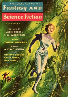 scificovers:  The Magazine of Fantasy and Science Fiction, December 1958. Cover by Ed Emshwiller.
