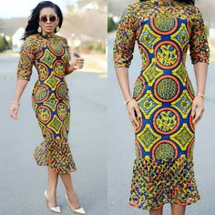 Fittest Ankara Long Gown Styles 2018 : Slim and Fittest for African Women - DeZango Fashion Zone