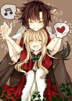 so sweet :3 mekaku city actors/ kagerou project, little red riding hood! seto and Mary!
