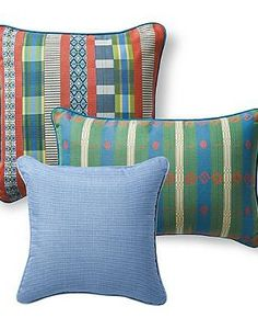 Bring fresh new life to your outdoor seating with the Set of Three Peruvian Path Designer Pillows that boast mesmerizing design and color patterns suited for a five-star setting.