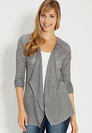 lightweight cardigan with crochet - maurices.com