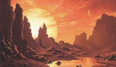 """""""Proxima's Planet"""" by David A. Hardy"""