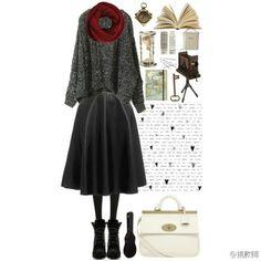恋上小黑裙 Polyvore, Image, Fashion, Moda, Fashion Styles, Fashion Illustrations