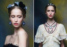 Eugenia Linovich has encapsulated the romance of Russian folk art in her accessories label Masterpeace. In her latest collection, inspired by Leo Tolstoy's War & Peace, The Russian designer brilliantly incorporates embroidery, filigree, porcelain, miniature lacquer painting and bead weaving into uniquely modern silhouettes.