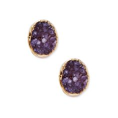 Amethyst Crystal Stud Earrings: Love it