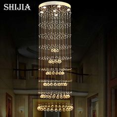 303.77$  Watch here - http://alik2o.worldwells.pw/go.php?t=32230968037 - Modern crystal chandelier large LED lamps long big chandeliers holders luxury villa Hotel lamps big hanging Light(China ) 303.77$