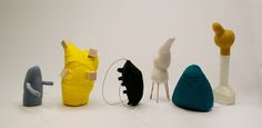 Lauren DiCioccio - Group Of Six - Sizes are Variable, Materials are wire, linen, thread, stuffing, canvas, wood, felt.