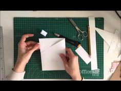 Cómo montar una estructura de mini álbum con bolsillos - TUTORIAL Scrapbook