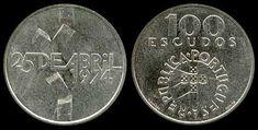 100 Escudos, prata, 1976