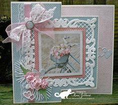De kaarten van ons Mam: een boeketje Geluk.. Pop Up Flower Cards, Marianne Design Cards, Scrap, Pretty Cards, Decorative Boxes, Birthday Cards, Design Inspiration, Joy, Flowers
