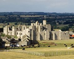 Middleham Castle, in the Yorkshire Dales, UK. It was once the childhood home of Richard III.