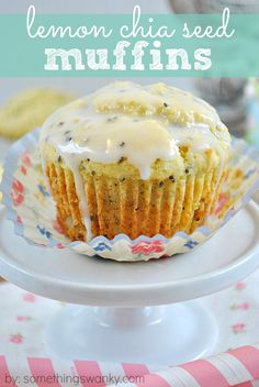 If you love Lemon Poppyseed Muffins, you'll go nuts over these Lemon Chia seed muffins! They taste just as good, but they're also chock full of fiber, protein, and omega-3 fatty acids. Yes, please! www.somethingswanky.com