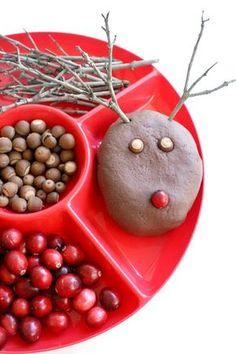 Christmas Crafts : Illustration Description Chocolate Reindeer Play Dough Recipe and Invitation to Play