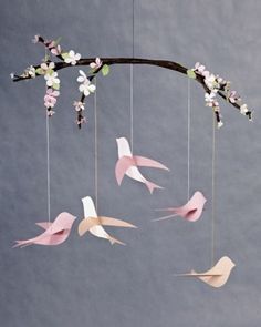 """See the """"Bird Mobile"""" in our Handmade Baby Gifts gallery"""