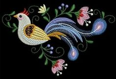 Decorative Birds 7 - 3 Sizes! | What's New | Machine Embroidery Designs | SWAKembroidery.com Ace Points Embroidery