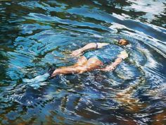 Lyn Diefenbach Exploring - Oil on Canvas Beautiful Artwork, Altered Art, Oil On Canvas, Waves, Explore, Painting, Pastels, Outdoor, Impressionism
