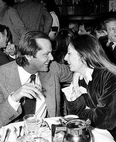 Jack Nicholson and Anjelica Huston at the New York Film Critics Award, January 1977.