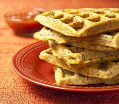 Savory Cheesy Chorizo Waffles #glutenfree #vegan
