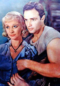 """Marlon Brando with Vivien Leigh for """"A Streetcar Named Desire"""" (1951)"""