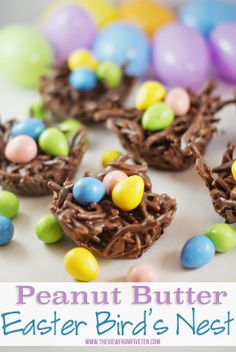 Peanut Butter Easter Bird's Nest #recipe - love how these turned out!
